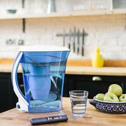 ZeroWater, 10 Cup Round Pitcher with Free Water Quality Mete