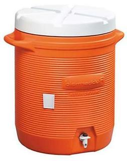 Rubbermaid; 10 Gallon Orange; Water Cooler
