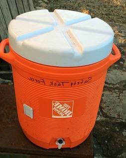 10 Gallon Water Cooler Bottom Spout Portable Handles Orange