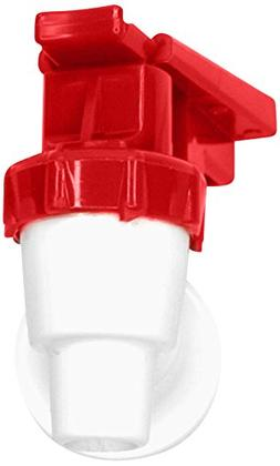 Tomlinson 1009470 White Cooler Replacement Faucet - Red Touc