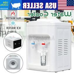 110V Electric Hot Cold Water Cooler Dispenser Desktop 3-5 Ga