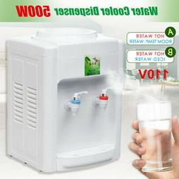110V Electric Hot Cold Water Cooler Dispenser Desktop 3-5 Ga
