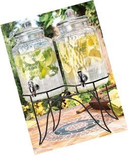 Home Essentials 1842 Del Sol Hammered Jug Beverage Dispenser
