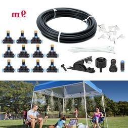 19.6FT/30FT/50FT Outdoor Misting Cooling System Garden Water