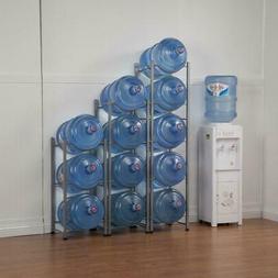 3/4/5 Layer Water Cooler Jug Rack 5 Gallon Water Bottle Stor