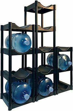 3/4/5 Tier Water Cooler Jug Rack Water Bottle Storage Rack D