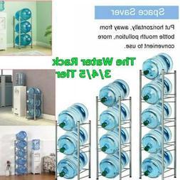 3/4/5 Tier Water Cooler Jug Rack - 5 Gallon Water Bottle Sto