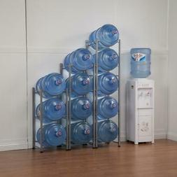3/4/5 Layer Water Cooler Jug Rack 5 Gallon Water Bottle Stor