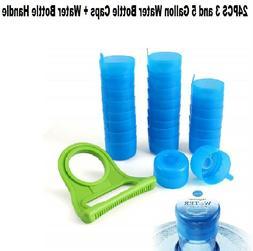 5PCS 55mm 3 & 5 Gallon Replacement Water Bottle Snap On Cap