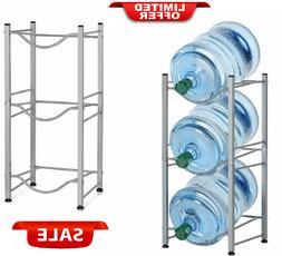3 Tier Water Cooler Jug Rack 5 Gallon Water Bottle Storage R