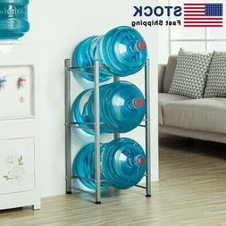 3-Tier Water Cooler Jug Rack 5 Gallon Water Bottle Storage S