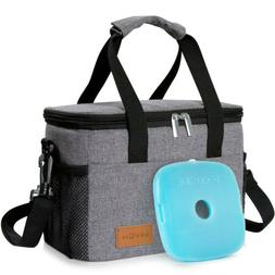 6L Insulated Lunch Box Bag Thermal Bento Bag For Men Women O