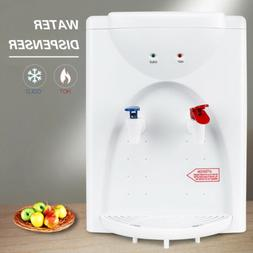 5 Gallon Tabletop Water Cooler Dispenser Hot Cold White Top