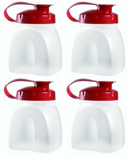 Rubbermaid MixerMate Servin' Saver 1 Pint Bottles, Pack of 4