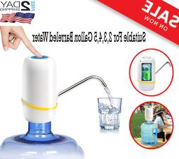 automatic water bottle pump portable electric drinking