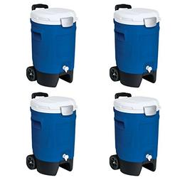 Igloo 5-Gallon Beverage Roller, Blue - 4 Pack