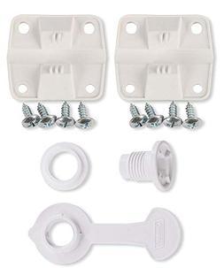 Coleman Cooler Plastic Hinge Set & Standard Drain Plug Assem