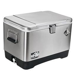 Igloo Stainless Steel Cooler  # 44669, 54 Quart, Clear