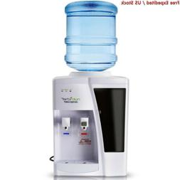 Nutrichef Countertop Water Cooler Dispenser - Hot & Cold Wat