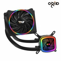 Aigo CPU Cooler Liquid 120mm Radiator Quiet Fan PWM Computer