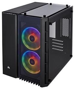 CORSAIR CRYSTAL 280X RGB Micro-ATX Case, 2 RGB Fans, Lightin