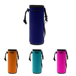 Drawstring Water Bottle Carrier Cooler Sleeve Neoprene Pouch