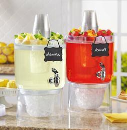Drink Dispenser Glass Beverage Punch Mason Jar Bar Lemonade
