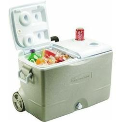 Rubbermaid DuraChill Wheeled 5-Day Cooler, 50 Quarts, Seashe