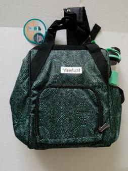 Fit & Fresh Green Insulated Lunch Bag Cooler Backpack with W