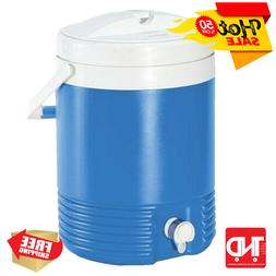 hard cooling sided beverage water cooler blue