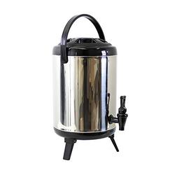 Cheftor 10 L / 2.5 Gal Heavy Duty Stainless Steel Water Beve