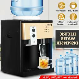 5 Gallon Hot&Cold Water Cooler Dispenser Freestanding Top Lo