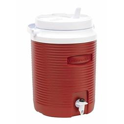 ICE WATER COOLER JUG 2 Gallon Large Red Thermos Insulated Ca