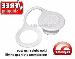 IGLOO TRIPLE SNAP DRAIN PLUG CAP ONLY! COOLER STANDARD Repla