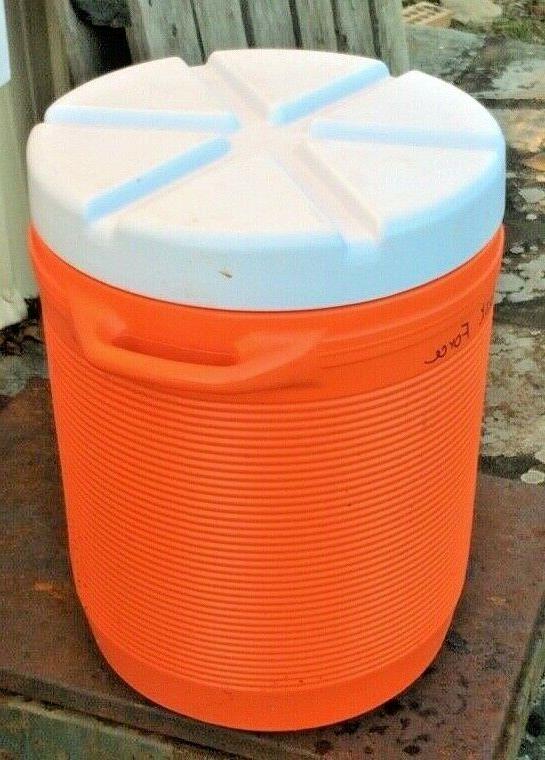 10 Gallon Water Bottom Spout Portable Orange