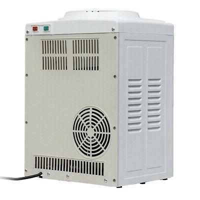 110V Hot Cold Water Cooler Dispenser Desktop 3-5 Use