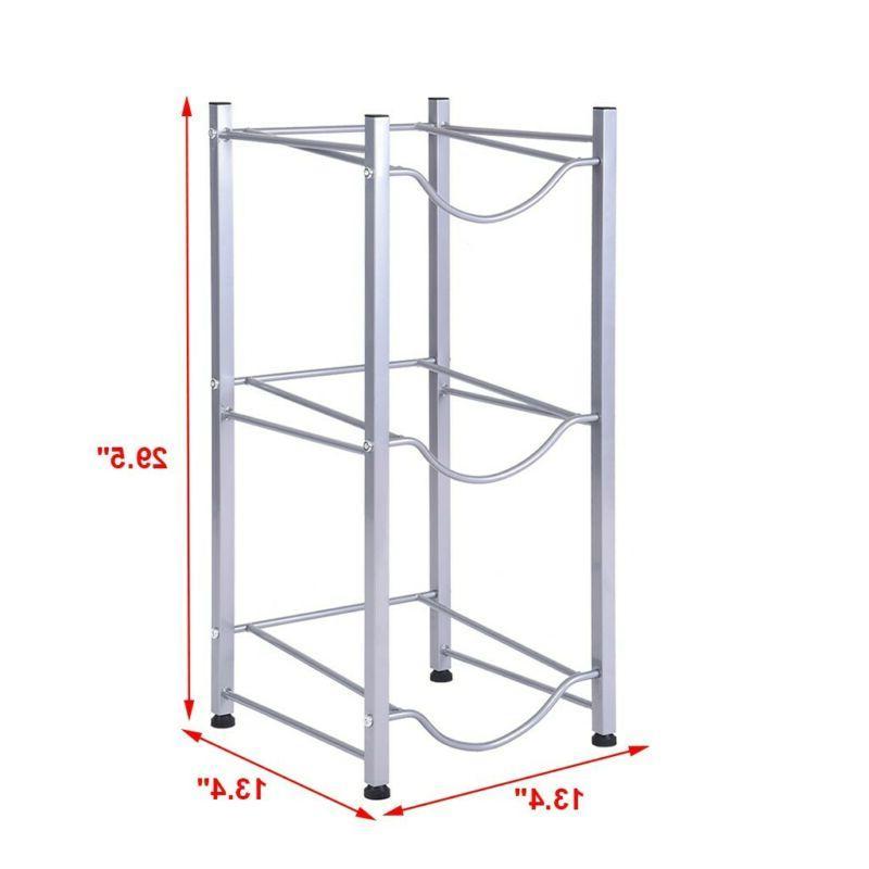 3-Tier Water Jug Rack Rack Detachable Heavy Rack US