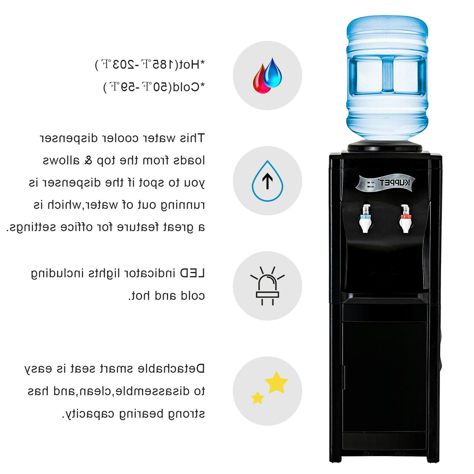 Electric 5Gallon Top Hot/Cold Black
