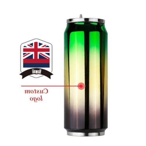 500ml Stainless Cup With Cans Drinking Water Bottle