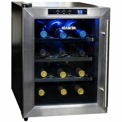 Newair - 12-bottle Wine Cooler - Black