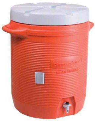 Rubbermaid Insulated Water Cooler, 5 Gallon, Orange 1841106