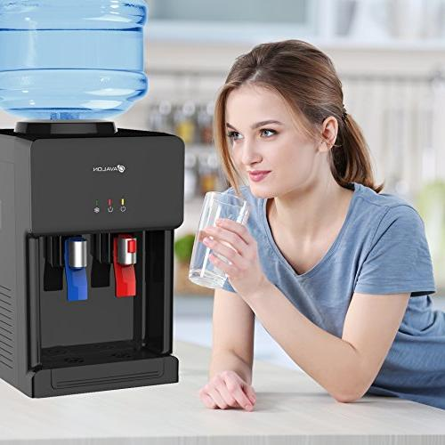 Avalon Premium Top Loading Dispenser With Lock. UL/Energy Star Black -