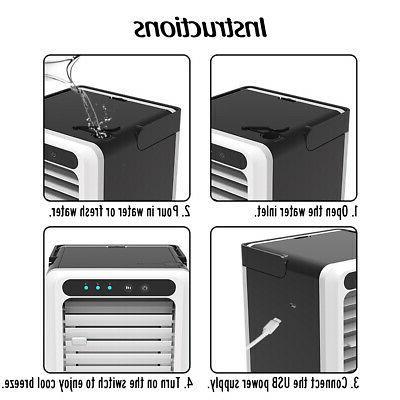 Air Conditioner USB Water Cooler 3 speeds Summer