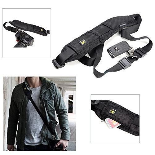 Black Shoulder Belt Strap for Digital SLR Rapid