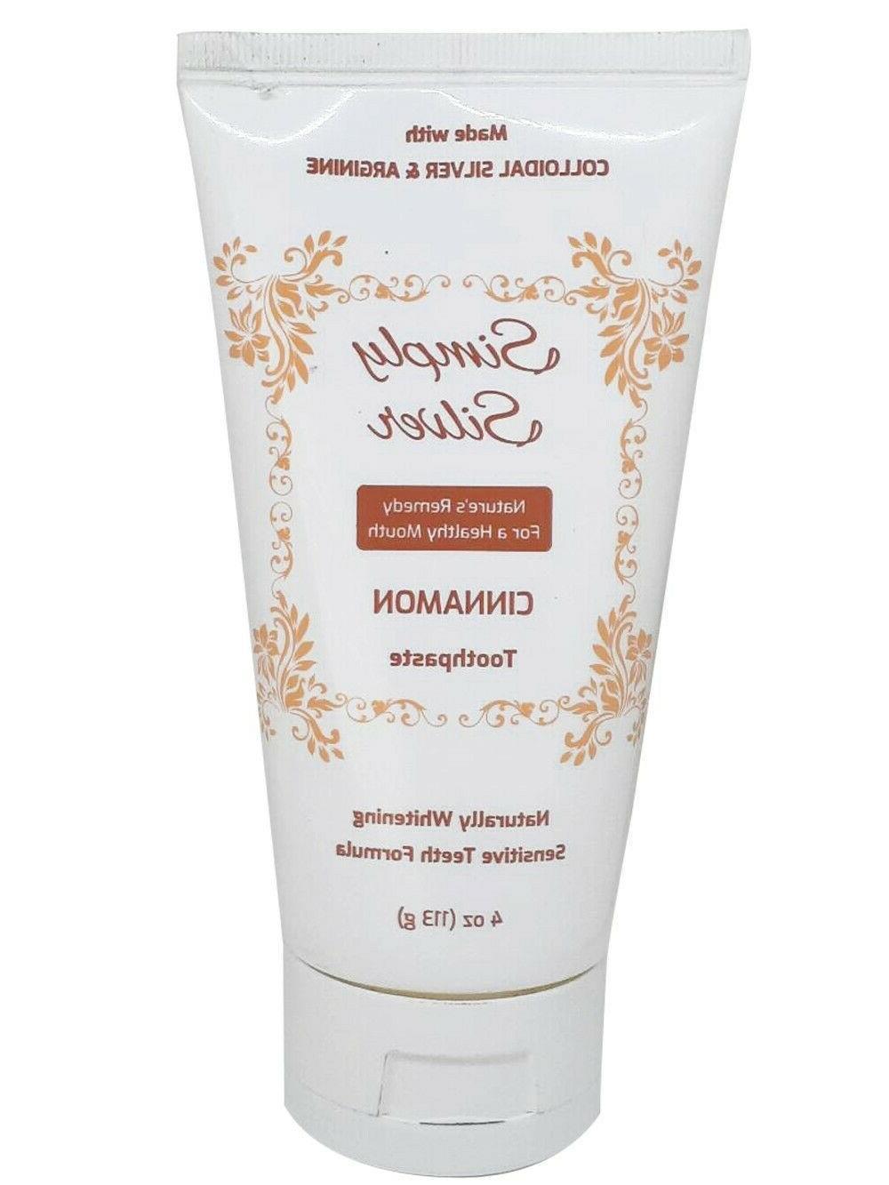 cinnamon toothpaste 4 oz naturally whitening sensitive