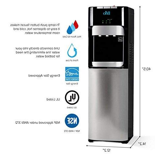 Ultra Reverse Osmosis Drinking Water Filter Cooler Hot, Water Approved Use