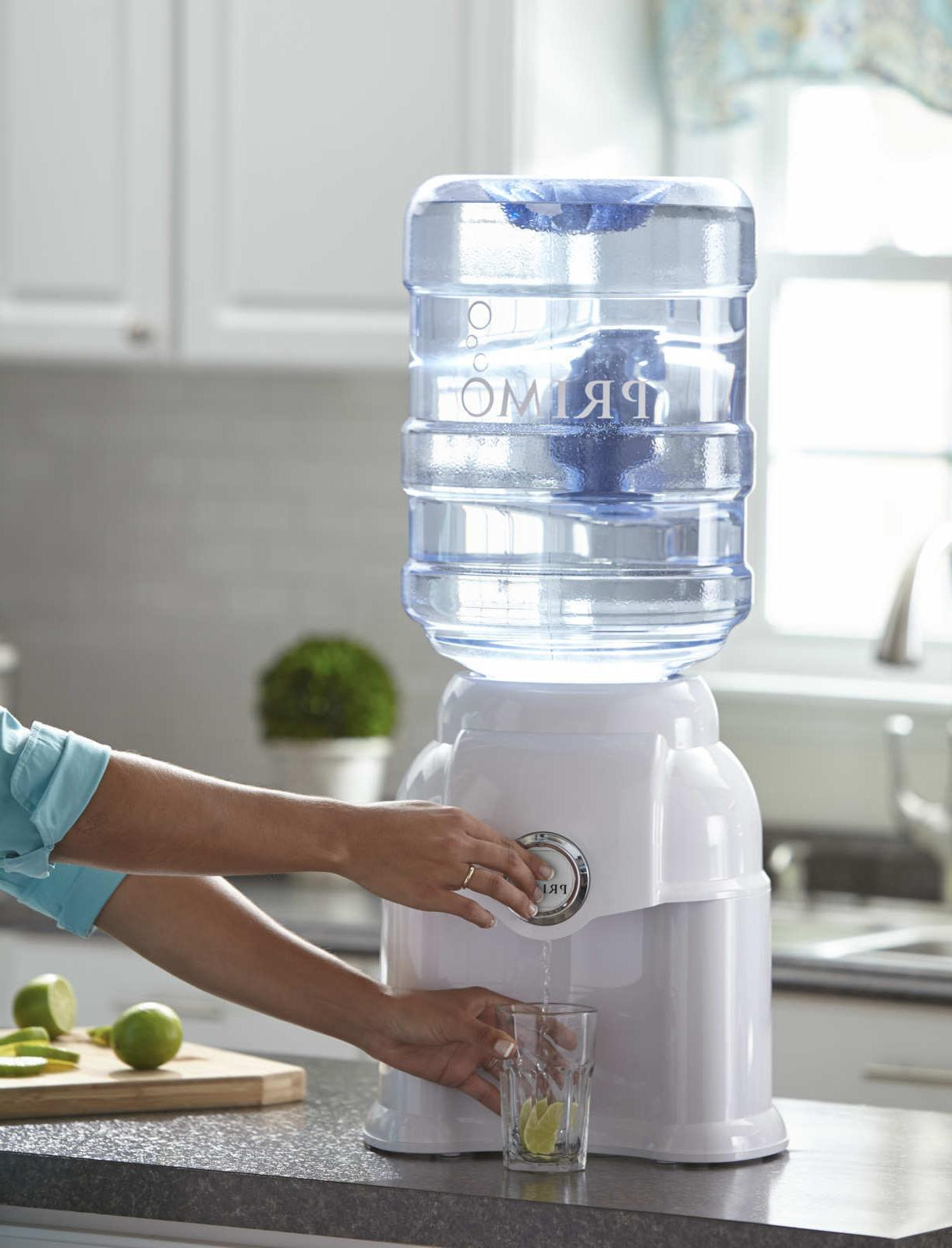 Primo White Countertop Room Temperature Water Dispenser