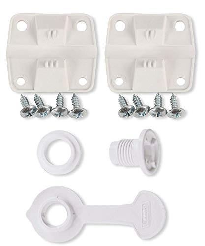 cooler plastic hinge set drain