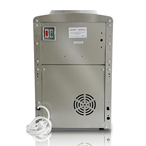 Nutrichef Countertop Water Cooler Dispenser Hot or 5 - PKTW20SL