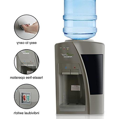 Nutrichef Countertop Water Dispenser - & Cold Water, - PKTW20SL